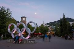 Whistler Village at dusk