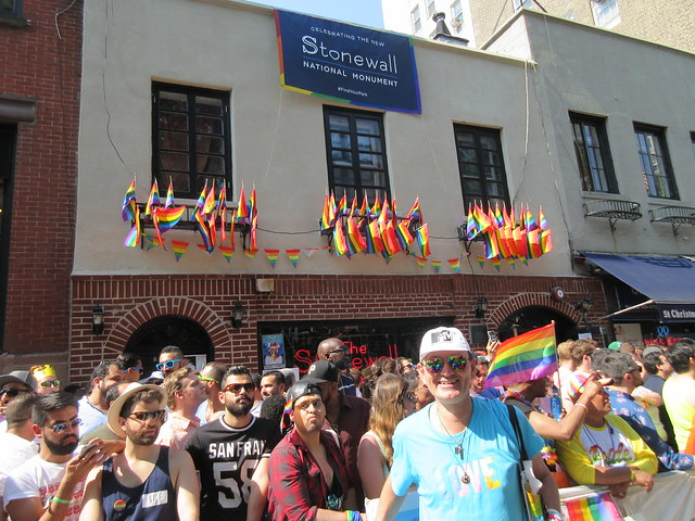 Ryan Janek Wolowski marching in NYC Pride, The March at The Stonewall Inn (National Historic Landmark) 53 Christopher St, New York, NY 10014 in New York City, USA 2016
