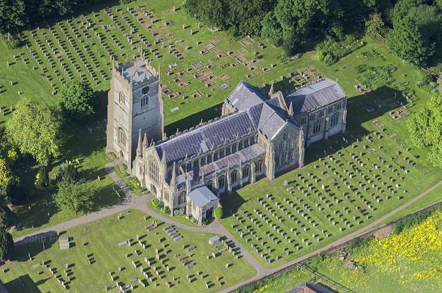 Terrington St Clement - St Clement Church - Norfolk aerial image