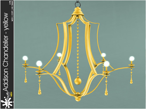 mudhoney addison chandelier - yellow