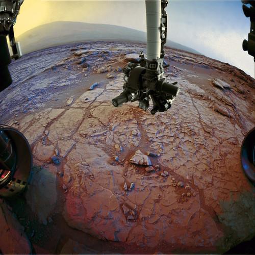 Curiosity sol 270 Front Hazcam