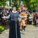 Vrouw in historische kleding