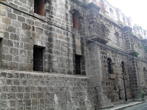 A portion of the 16th century wall protecting Old Manila