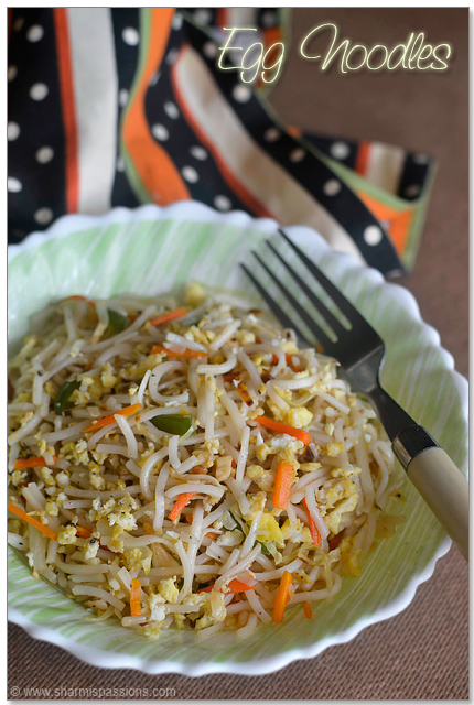 Egg noodles chinese egg hakka noodles recipe sharmis passions egg noodles forumfinder Images