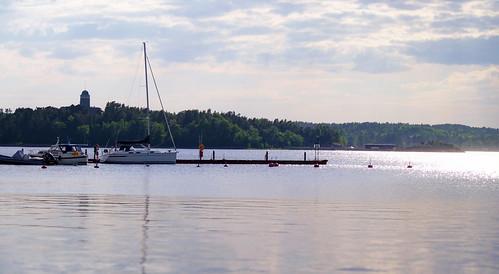 blue sea sky sun reflection nature water port marina pier boat kiss naantali pvanhala