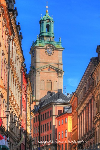 Sunny day in Old Town (Gamla Stan) Stockholm, Sweden by sawelli
