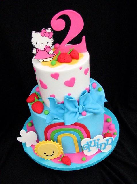 Cake Hello Kitty Blue : Hello Kitty Cake Flickr - Photo Sharing!