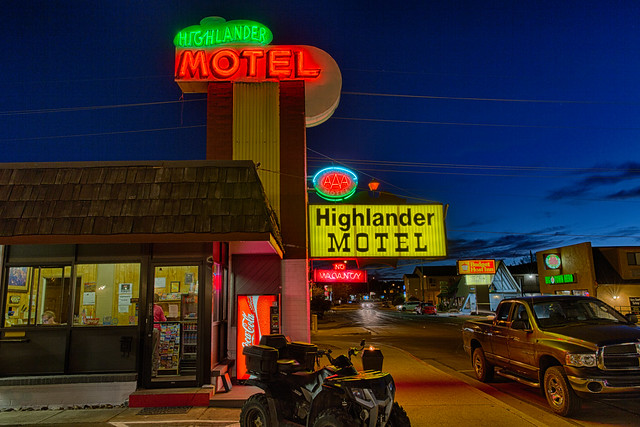Highlander Motel - Williams, Arizona U.S.A. - May 21, 2013