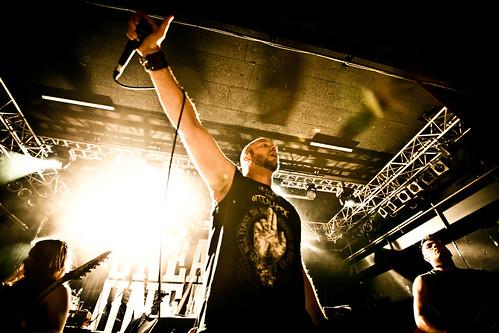 Unearth als Vorband von Hatebreed in der Arena Wien