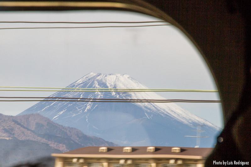 Monte Fuji desde el shinkansen entre Tokio y Osaka