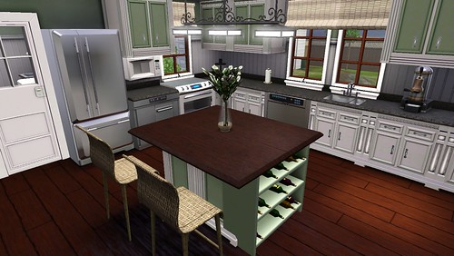 Kitchen Ideas Sims 3 tip: creating an island counter stove hob without using cc
