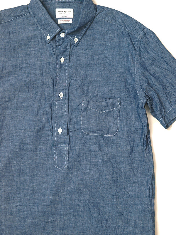 Manual Alphabet / Chambray S/S Pullover Shirt