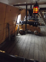 HMS Victory - Portsmouth Historic Dockyard - Middle Deck - cannon