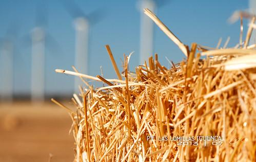 españa atardecer molinos cuenca trigo parqueeolico laslomillas
