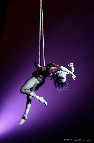 Trapeze in Midnight Circus