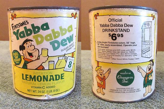 Vintage 1976 Flintstones Yabba Dabba Dew LEMONADE Can Hanna-Barbera