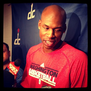 Al Harrington sports his Washington Basketball t-shirt.