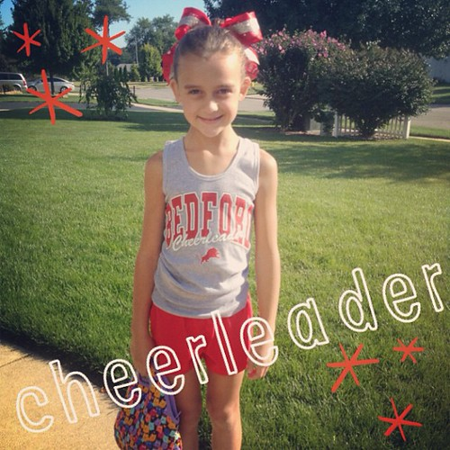 Cheer clinic today!