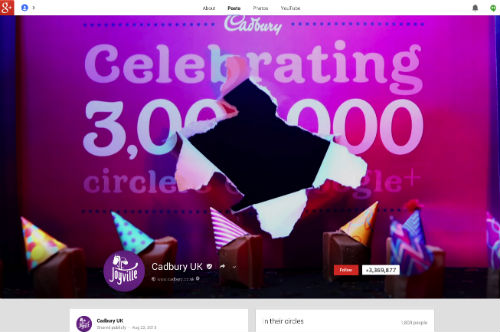 Cadbury UK Google+
