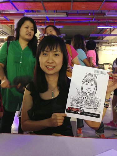 caricature live sketching for NTUC U Grand Prix Experience 2013 - 41