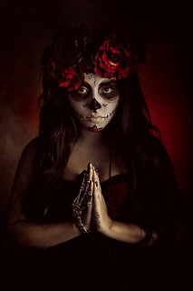 Lady of The Dead ~ Dia De Los Muertos Portrait