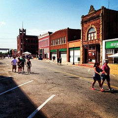 More people downtown than Guthrie's probably ever seen.