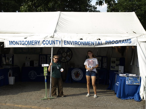 Image of the Montgomery County DEP County Fair Booth