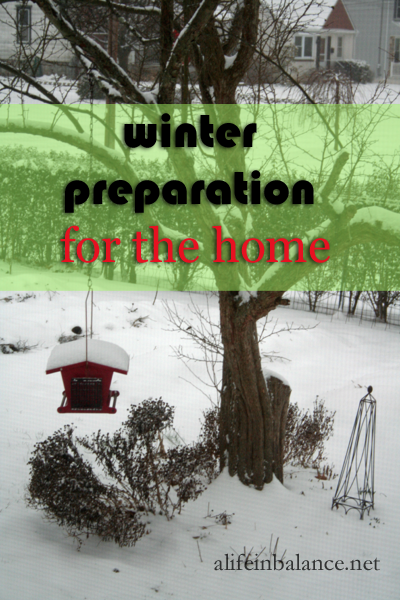 Winter Preparation for the Home