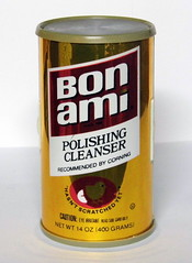 Vintage Bon Ami Polishing Cleanser Can Novelty AM Radio, Made in Hong Kong