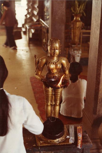 1972 - Inside Mariamman Hindu Temple in Saigon