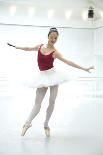 Fumi Kaneko in action.