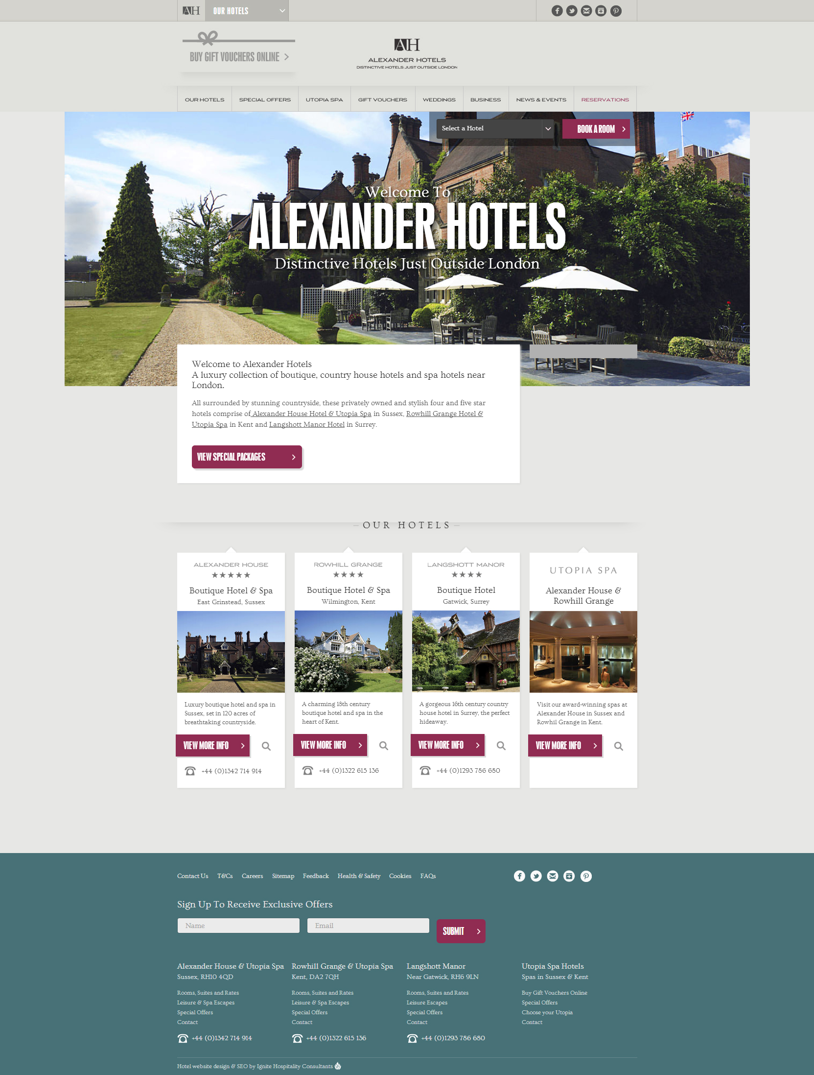 Website Inspiration - Alexander Hotels