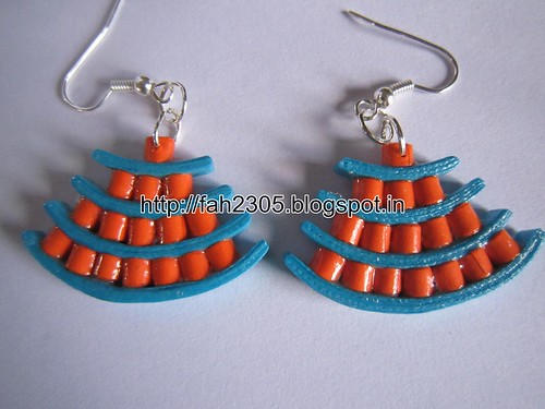 Handmade Jewelry - Paper Quilling Egyptian Style Earrings (6) by fah2305
