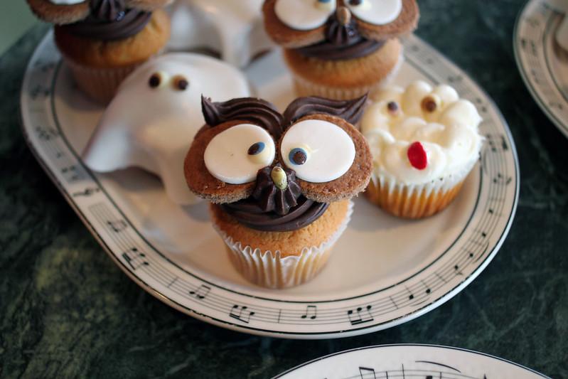 Cupcakes hiboux