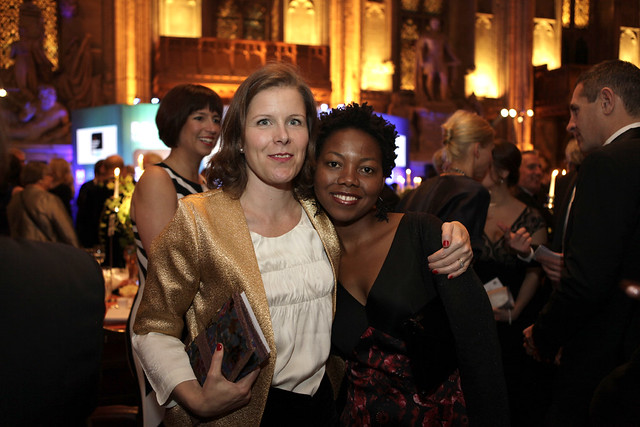 2013 shortlisted author NoViolet Bulawayo with her Editor, Becky Hardie - c Janie Airey
