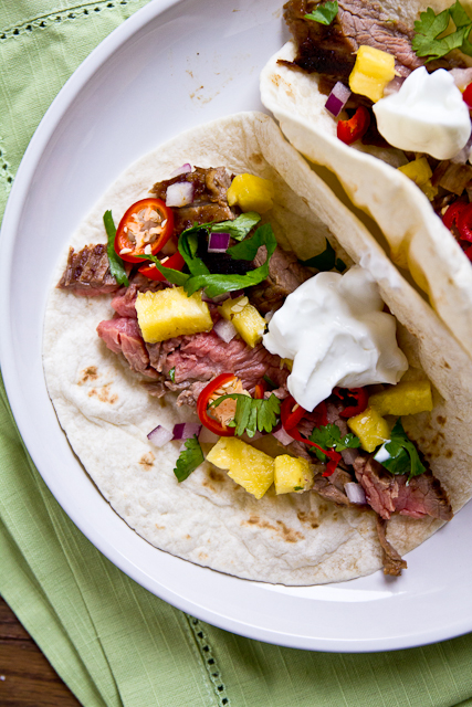 Pineapple-Marinated Beef Fajitas