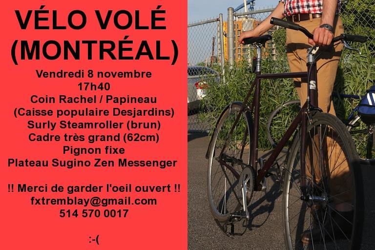 Volé/Stolen - Surly Steamroller