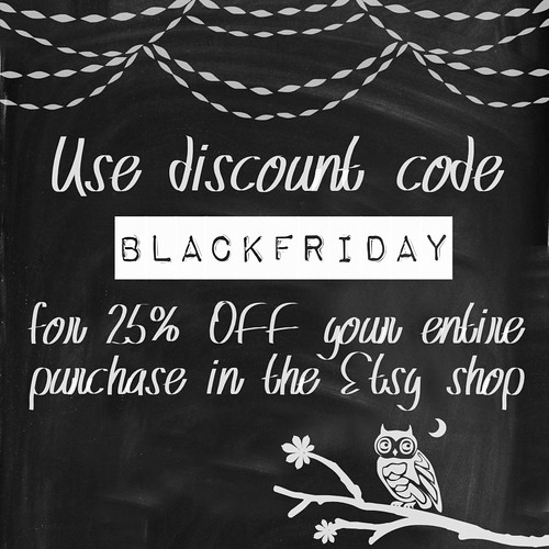 Xmas promotions - Etsy BlackFriday