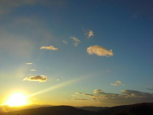 Un tramonto autunnale a Perugia