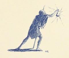 """British Library digitised image from page 13 of """"Verbanine. Lettere di Apostolo Zero, pellegrino di commercio e amore, trovate [or rather, written?] da G. Faldella, ed illustrate da G. Ricci"""""""