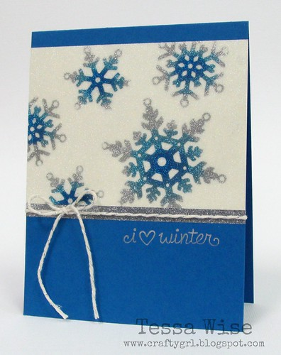 Glitter Snowflakes Card 1