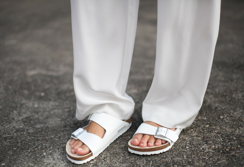 modern legacy fashion style blogger australia sass bide wide leg silk pants faddoul label top zara boyfriend blazer white birkenstocks street style alexander wang rafael bag (5 of 11)