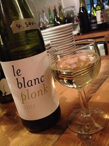 最初は白「Le Blanc Plonk」@jicca