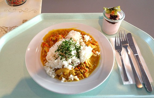 Limettencurry vom Truthahn & Basmatireis / Turkey lime curry & basmati rice