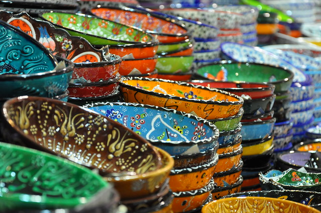 Istanbul Grand Bazaar bowls