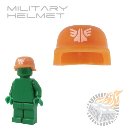 Military Helmet - Orange (white GSquad print)