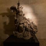 Dragon head statue on the Arc de Triomphe