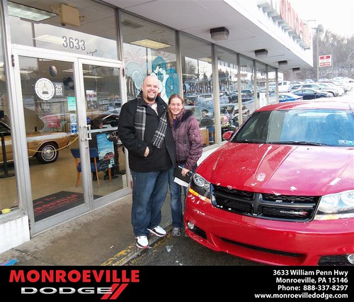 Happy Anniversary to Heather Marie Candelore on your 2013 #Dodge #Avenger from Ronald Mcclelland  and everyone at Monroeville Dodge! #Anniversary by Monroeville Dodge