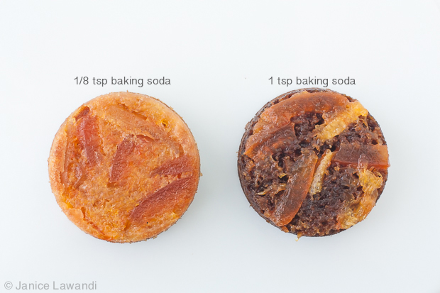 Too much baking soda in cake recipes isn't a good thing!