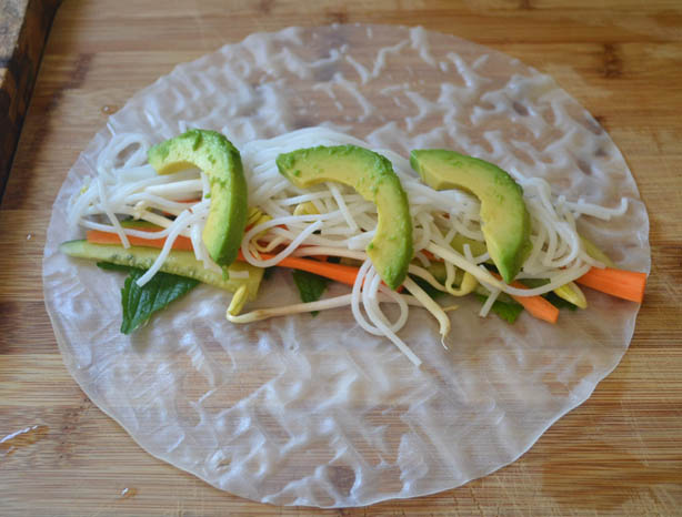 Fresh Vegetarian Spring Rolls via LittleFerraroKitchen.com